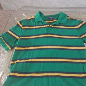 Boys Striped Polo